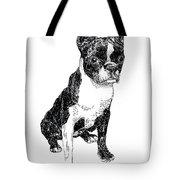 Boston Bull Terrier Tote Bag