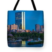 Boston By Night Tote Bag