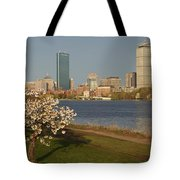 Boston Charles River On A Spring Day Tote Bag