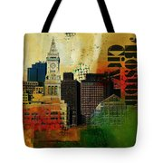 Boston City Collage 2 Tote Bag by Corporate Art Task Force