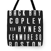 Boston City Subway Tote Bag