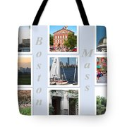 Boston Collage Tote Bag