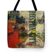 Boston Collage Tote Bag by Corporate Art Task Force