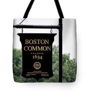 Boston Common Ma Tote Bag