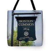 Boston Common Park Sign, Boston, Ma Tote Bag