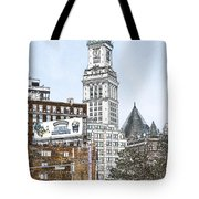Boston Custom House Tower Tote Bag