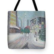 Boston First Snow Tote Bag