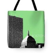 Boston Hancock Tower - Sage Tote Bag