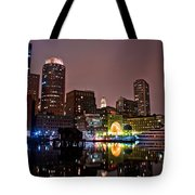 Boston Harbor At Night  Tote Bag