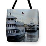 Boston Harbor Cruise Three In A Row Tote Bag