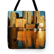Boston Harbor Tote Bag by James Kirkikis