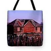 Boston Harbor Pier Dwelling Tote Bag