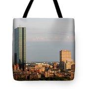 Boston John Hancock Tower Skyline Tote Bag