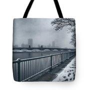 Boston Longfellow Bridge-snow Cityscape Tote Bag