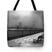 Boston Longfellow Bridge-snow Cityscape V3 Tote Bag