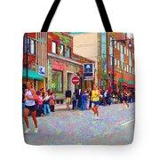 Boston Marathon Mile Twenty Two Tote Bag