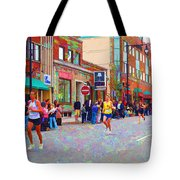 Boston Marathon Mile Twenty Two Tote Bag