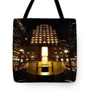 Boston - Night At Post Office Square Tote Bag
