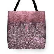 Boston Panorama Abstract Tote Bag