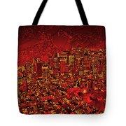 Boston Panorama Red Tote Bag