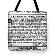 Boston Parker House Tote Bag