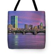 Boston Pastel Sunset Tote Bag by Joann Vitali