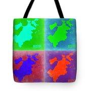 Boston Pop Art Map 2 Tote Bag by Naxart Studio