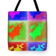 Boston Pop Art Map 3 Tote Bag by Naxart Studio