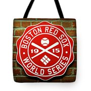 Boston Red Sox 1915 World Champions Tote Bag by Stephen Stookey