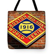 Boston Red Sox 1916 World Champions Tote Bag