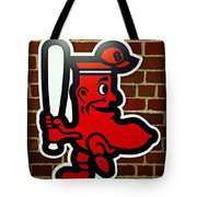 Boston Red Sox 1950s Logo Tote Bag by Stephen Stookey