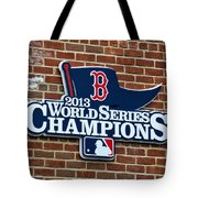 Boston Red Sox World Champions Tote Bag