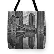 Boston Reflections Bw Tote Bag