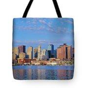 Boston Skyline And Harbor, Massachusetts Tote Bag