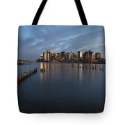 Boston Skyline At Dusk Tote Bag