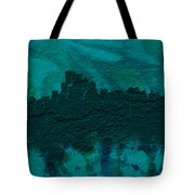 Boston Skyline Brick Wall Mural Tote Bag