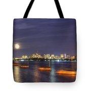 Boston Skyline From Memorial Drive Tote Bag
