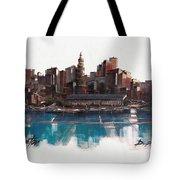 Boston Skyline  Number 1 Tote Bag
