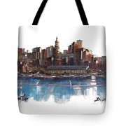 Boston Skyline  Number 3 Tote Bag