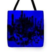Boston Skyline Paint Splash 2 Tote Bag