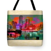 Boston Skyline Painting Tote Bag