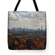 Boston Skyline View From Mt Auburn Cemetery Tote Bag
