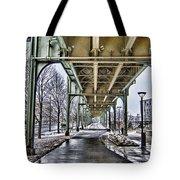Boston Streetcar Overpass-cambridge V2 Tote Bag