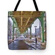 Boston Streetcar Overpass Tote Bag