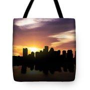 Boston Sunset Skyline  Tote Bag