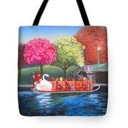 Boston Swan Boat Tote Bag