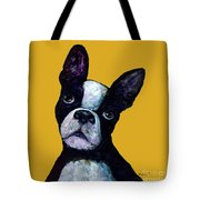 Boston Terrier On Yellow Tote Bag