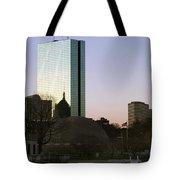Bostons John Hancock Tower Massachusetts Tote Bag