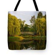Botanic Garden Bridge At Dusk Tote Bag