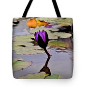 Botanical Garden Lotus Flowers Tote Bag